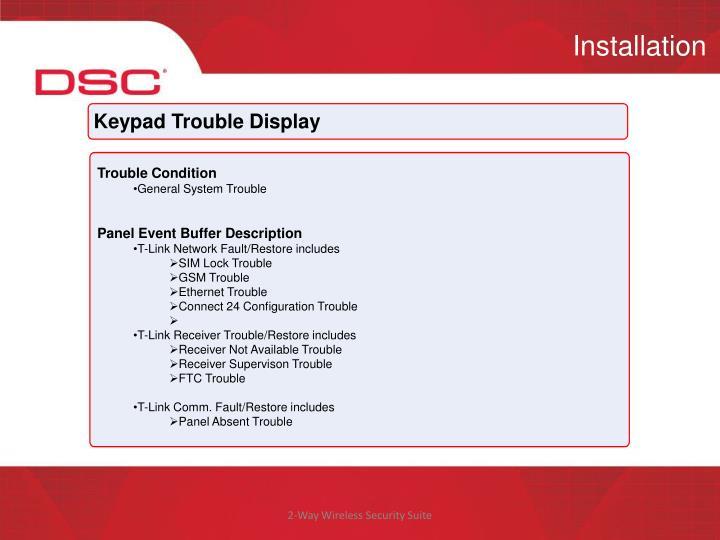 Keypad Trouble Display