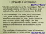 calculate correlation