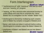 form interferogram