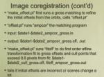 image coregistration cont d