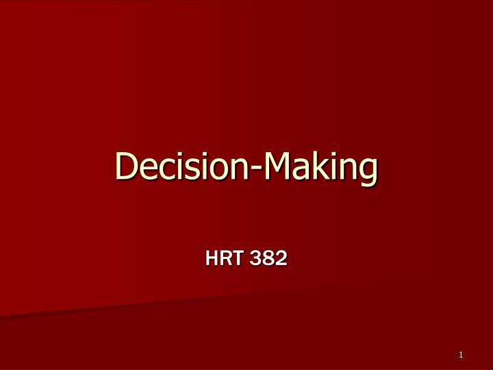 decision making n.