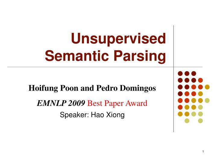 unsupervised semantic parsing n.