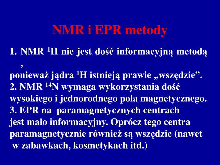 NMR i EPR metody