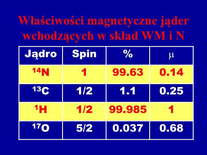 Właściwości magnetyczne jąder