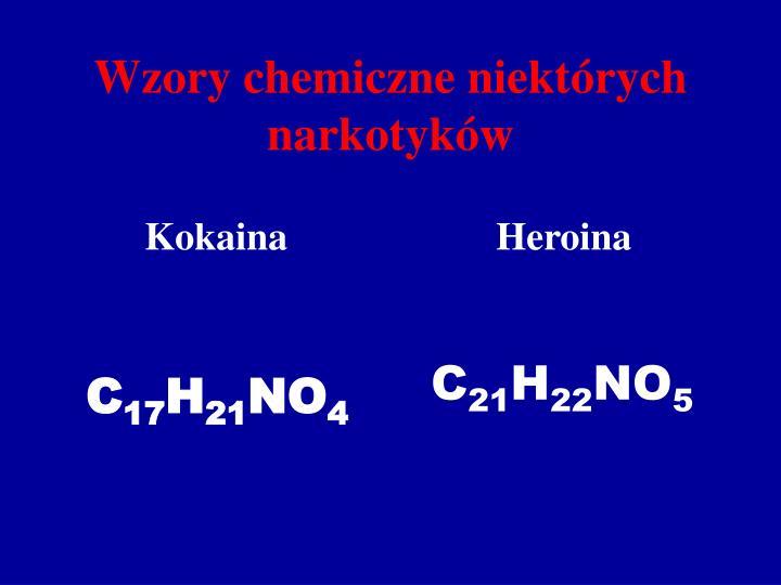 Wzory chemiczne niektórych narkotyków