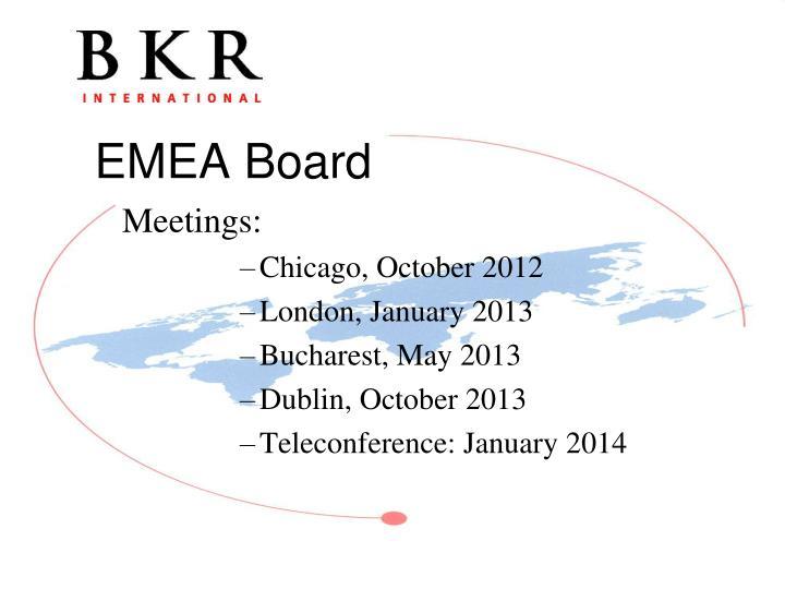 Meetings:
