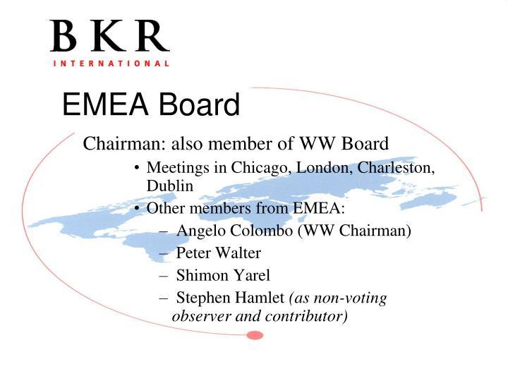 Chairman: also member of WW Board