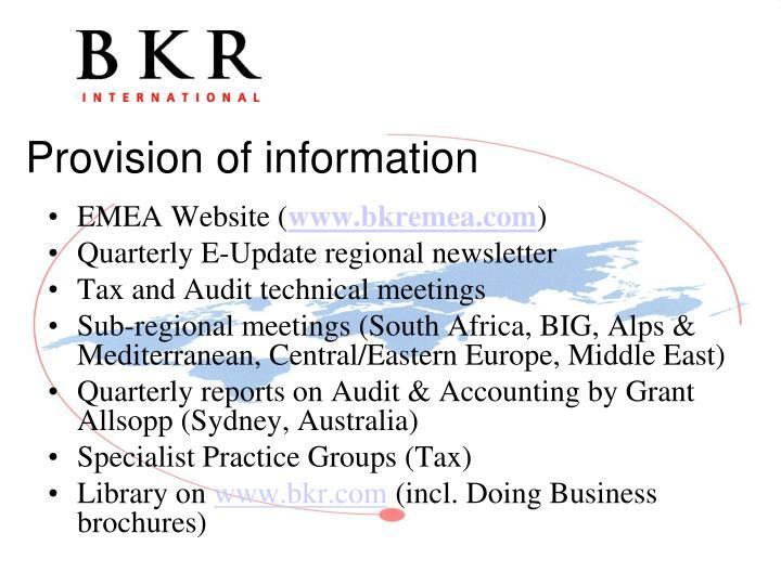 EMEA Website (