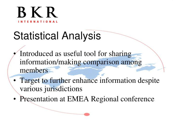 Introduced as useful tool for sharing information/making comparison among members