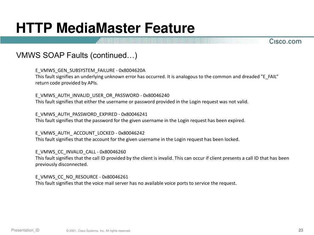 PPT - HTTP MediaMaster Feature PowerPoint Presentation - ID:3389534