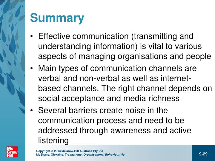 different types of communication in an organisation