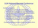 uua national biennial conference1