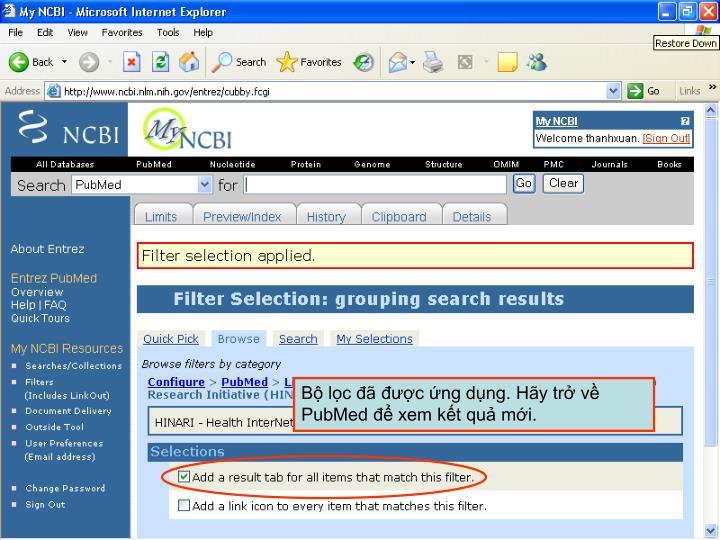 Bộ lọc đã được ứng dụng. Hãy trở về PubMed để xem kết quả mới.