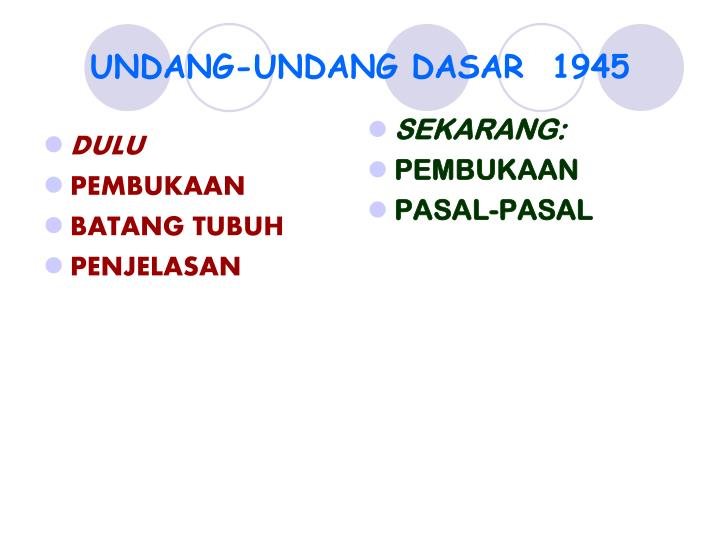 undang undang dasar 1945