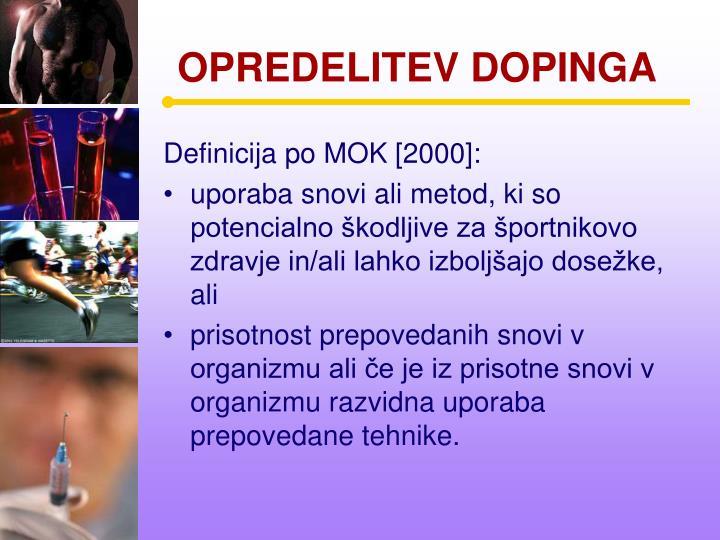 Opredelitev dopinga