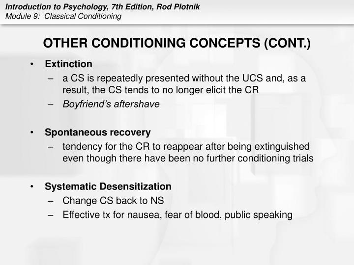 OTHER CONDITIONING CONCEPTS (CONT.)