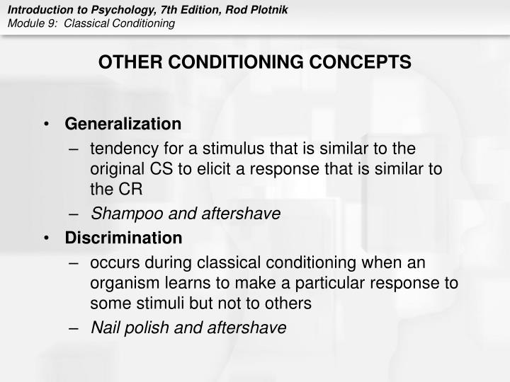 OTHER CONDITIONING CONCEPTS