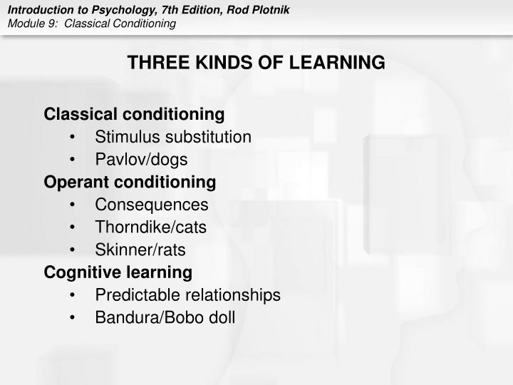 Three kinds of learning