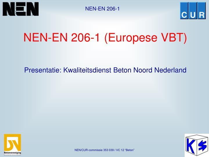 nen en 206 1 europese vbt n.