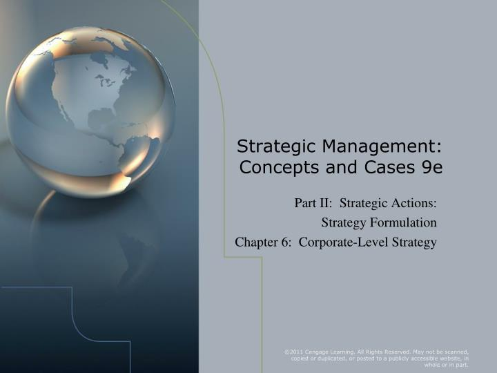 strategic management concepts and cases 9e n.