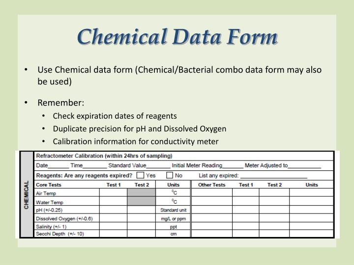 Chemical Data Form