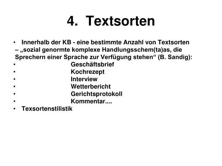 4.  Textsorten