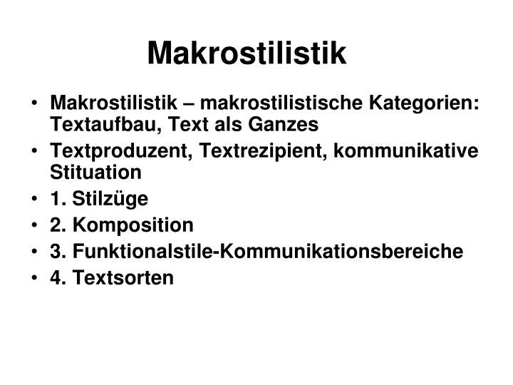 Makrostilistik