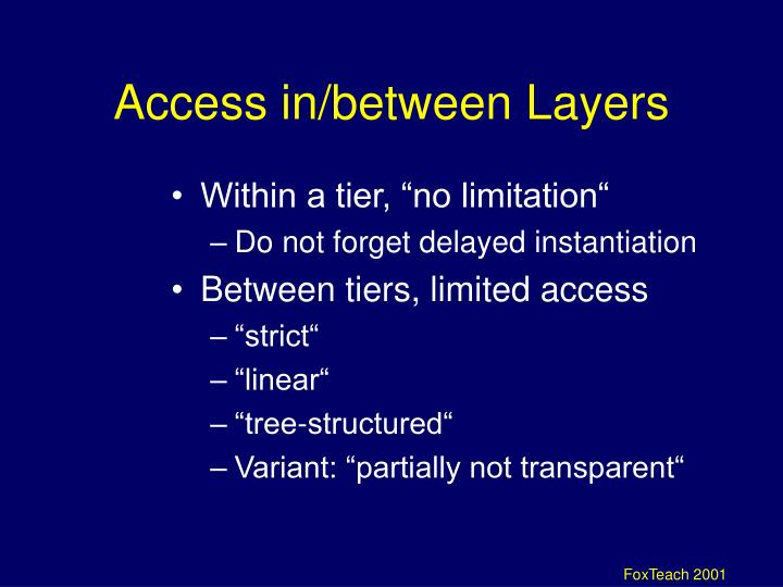 Access in/between Layers