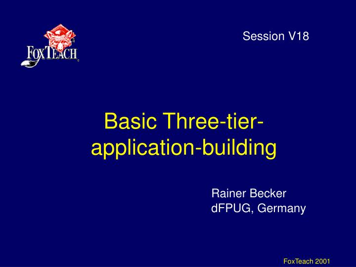 Basic three tier application building