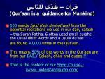 qur aan is a guidance for mankind1