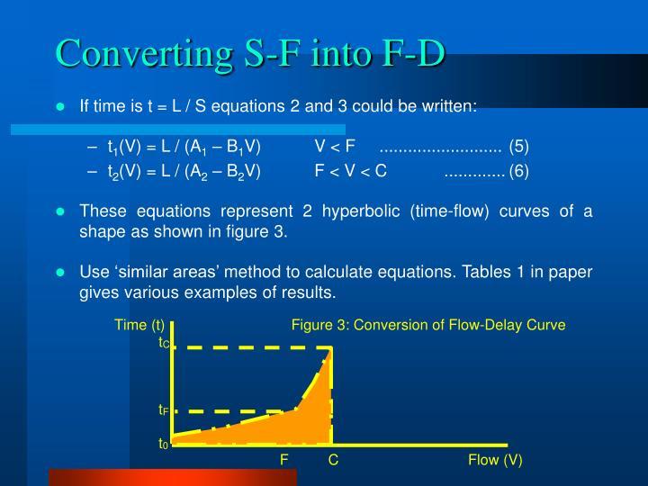 Converting S-F into F-D