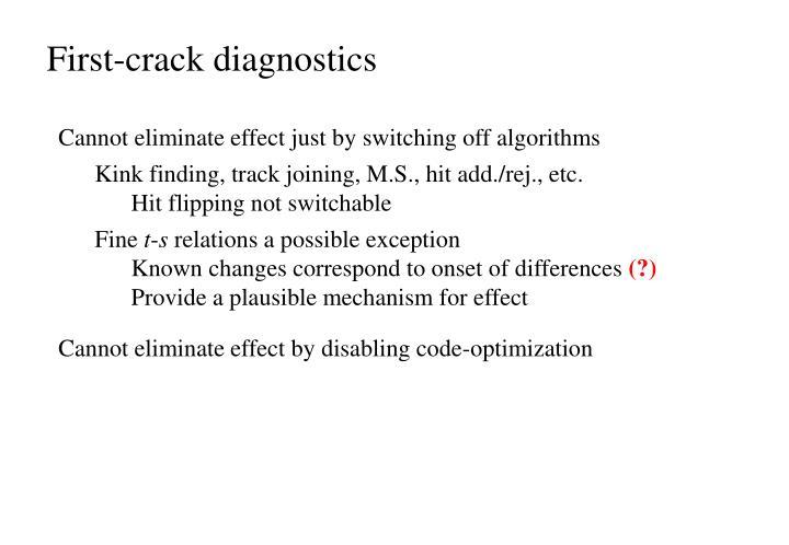 First-crack diagnostics