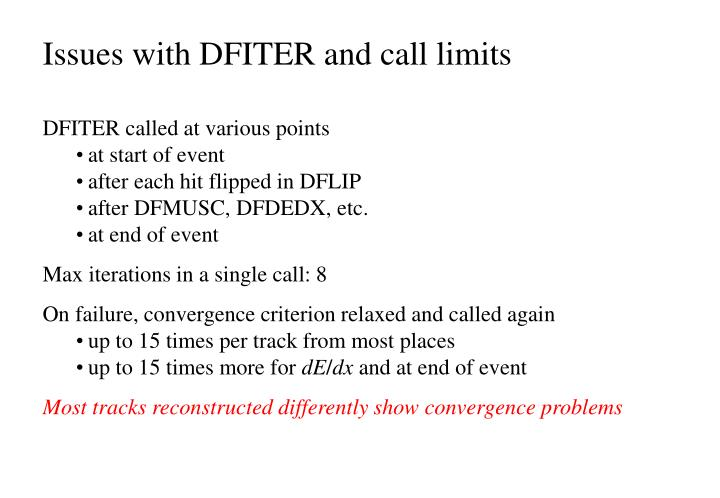 Issues with DFITER and call limits