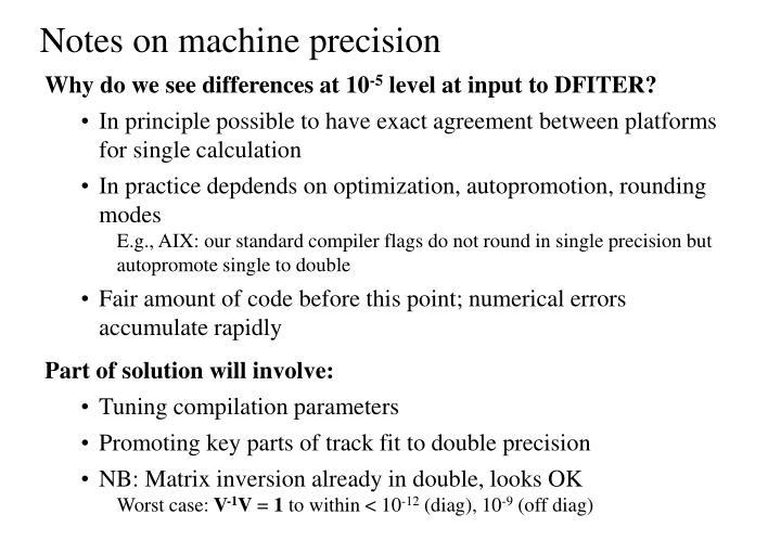 Notes on machine precision