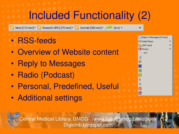 Included Functionality (2)