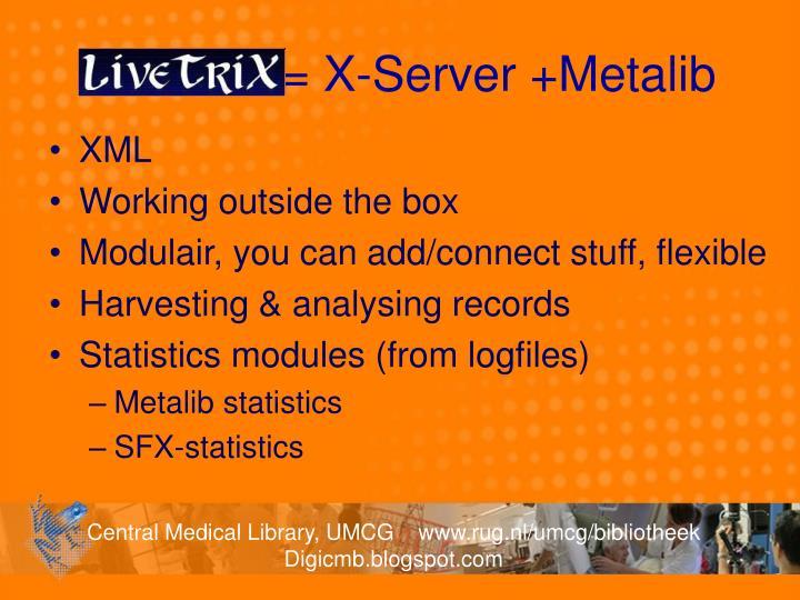 LiveTrix = X-Server +Metalib
