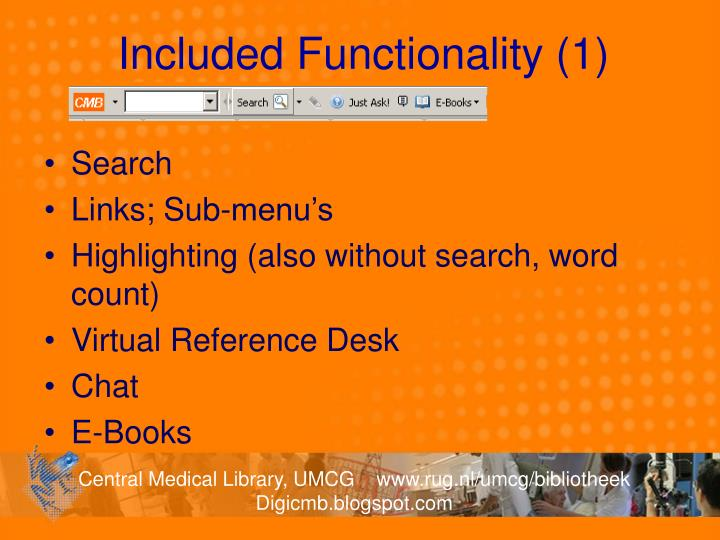 Included Functionality (1)