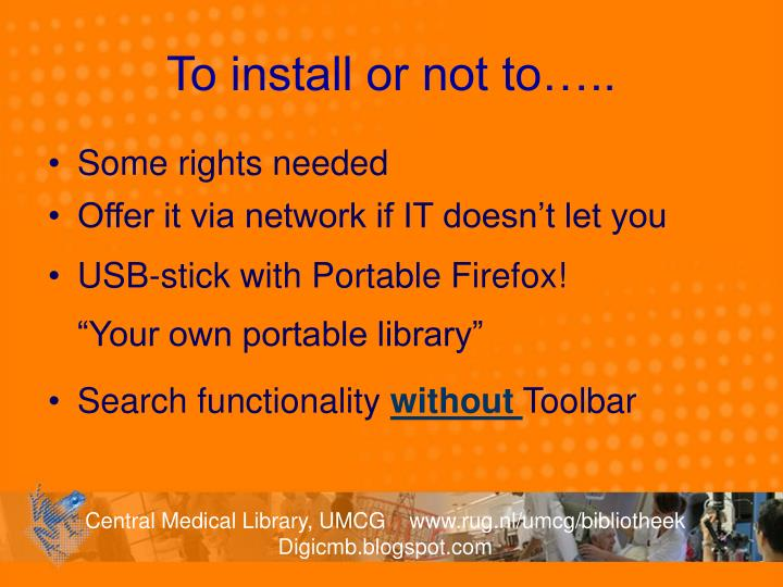 To install or not to…..