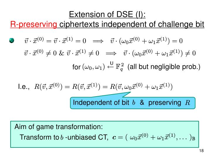 Extension of DSE (I):