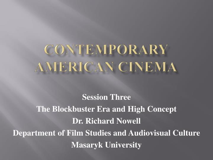 contemporary american cinema n.