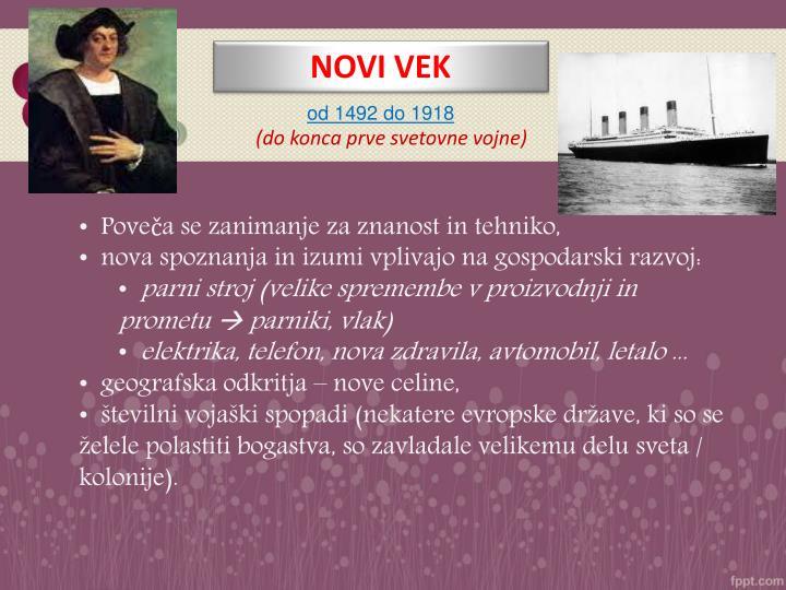 NOVI VEK