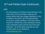 ict and palala clubs continued