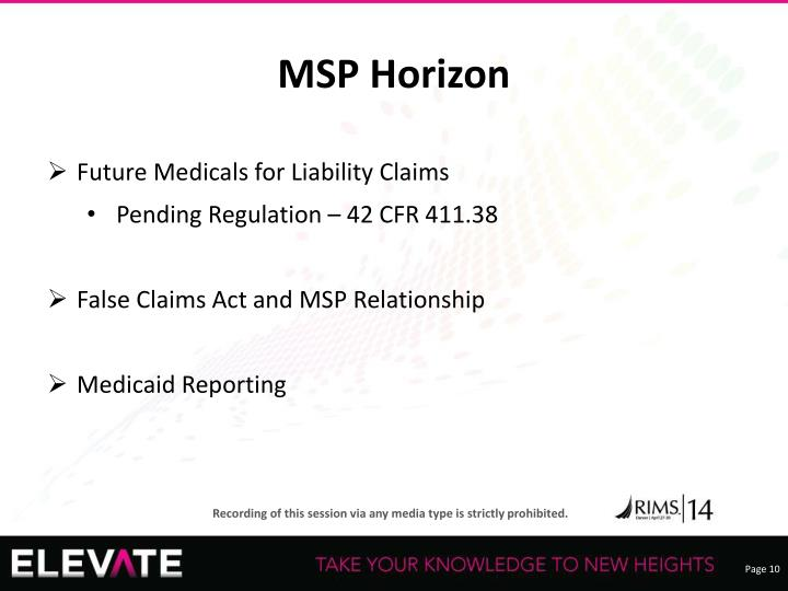 MSP Horizon