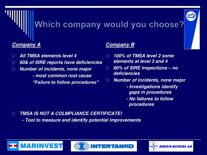 Which company would you choose?
