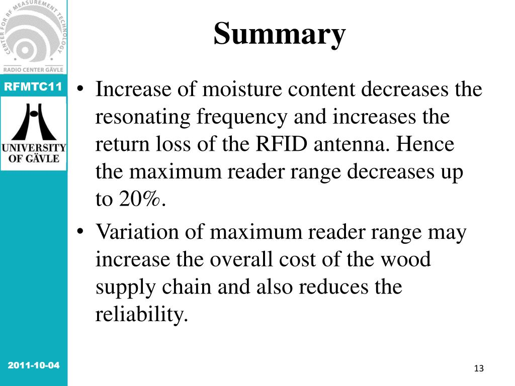 PPT - Impact of Moisture Content on RFID Antenna Performance