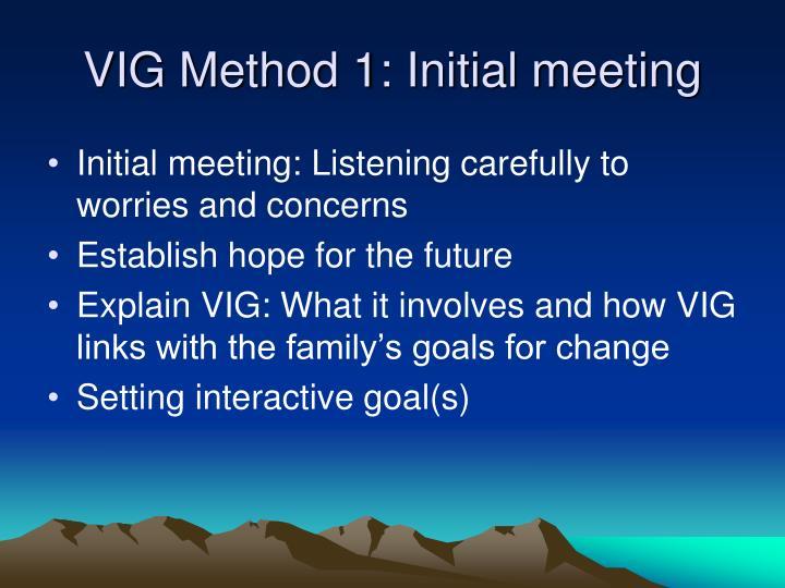 VIG Method 1: