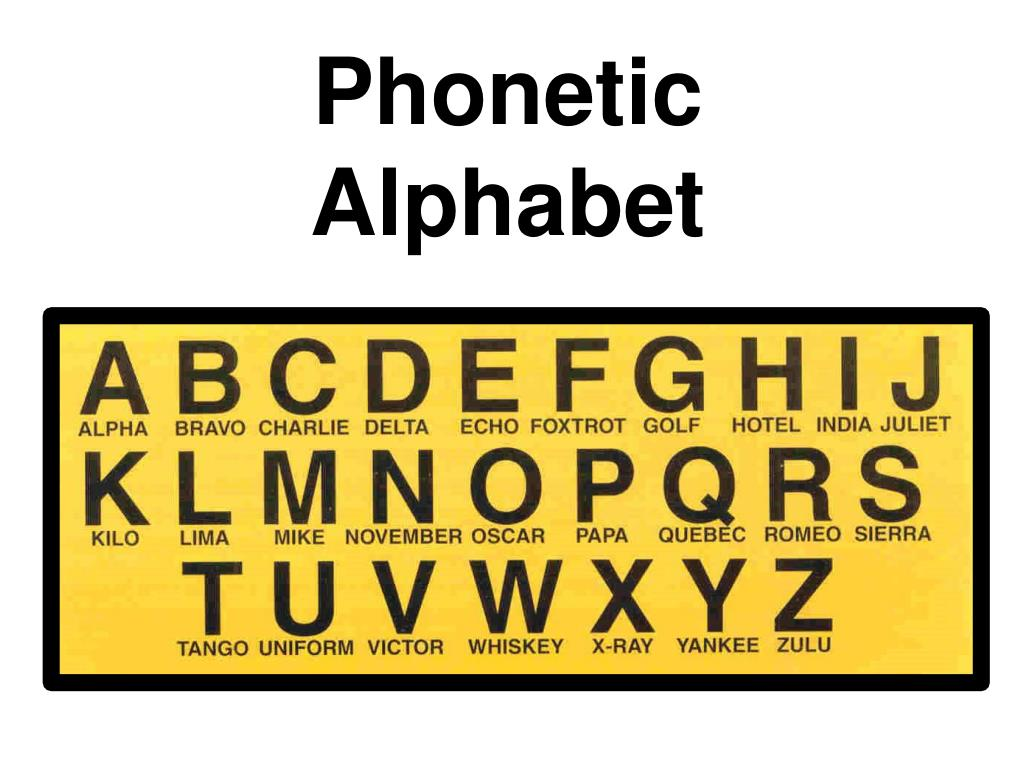 Ppt Phonetic Alphabet Powerpoint Presentation Free Download Id 3391189
