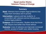 equal justice works veterans theory of change