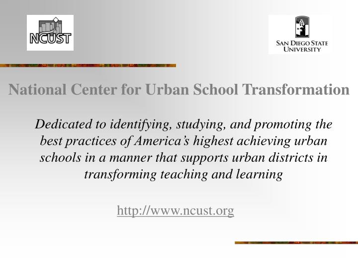 National Center for Urban School Transformation