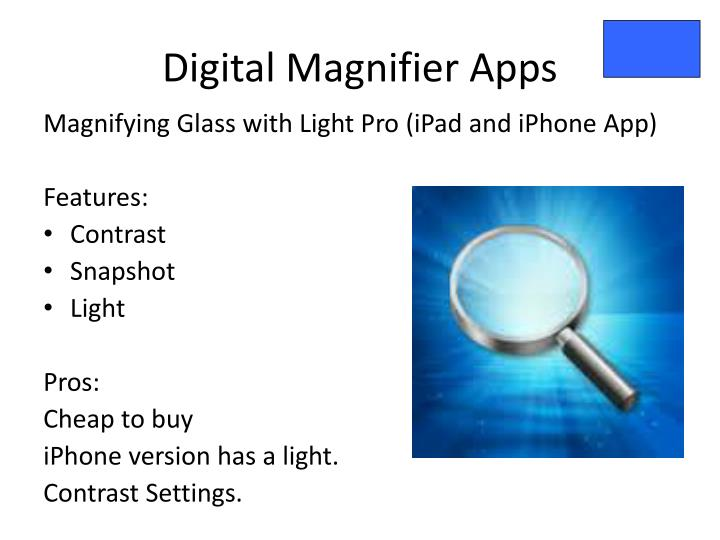 Digital Magnifier Apps